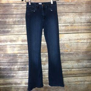 ASOS high waist flare jeans dark wash 26 26x32